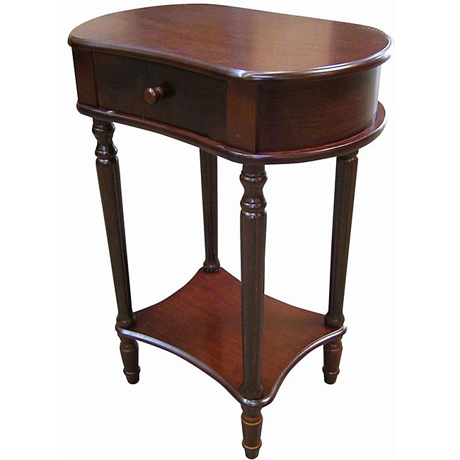 Wide Cherry Side Table