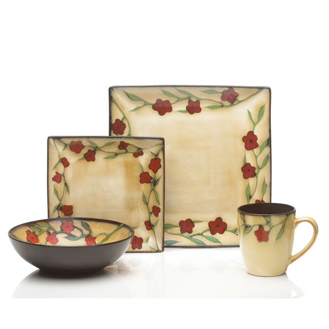 Mikasa Gourmet Briar Rose 16-piece Dinnerware Set  sc 1 st  Overstock.ca & Shop Mikasa Gourmet Briar Rose 16-piece Dinnerware Set - Ships To ...
