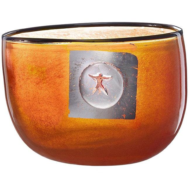 Kosta Boda Orange 'Jupiter' Bowl
