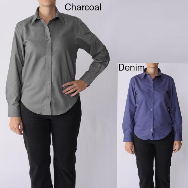 Bill Blass Women's Long-sleeve Collared Shirt
