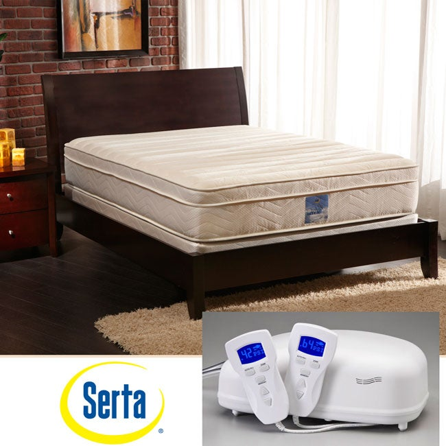 Serta Perfect Rest 4-Zone Premier Queen-size Airbed Mattress Set - Thumbnail 0