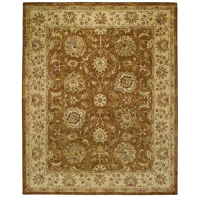Alliyah Handmade Bronze Mist New Zealand Blend Wool Rug (8' x 10')