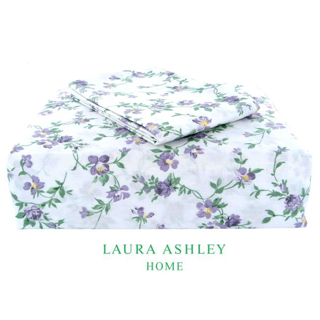 Laura Ashley Taylor 200 Thread Count Lilac King-size Sheet Set