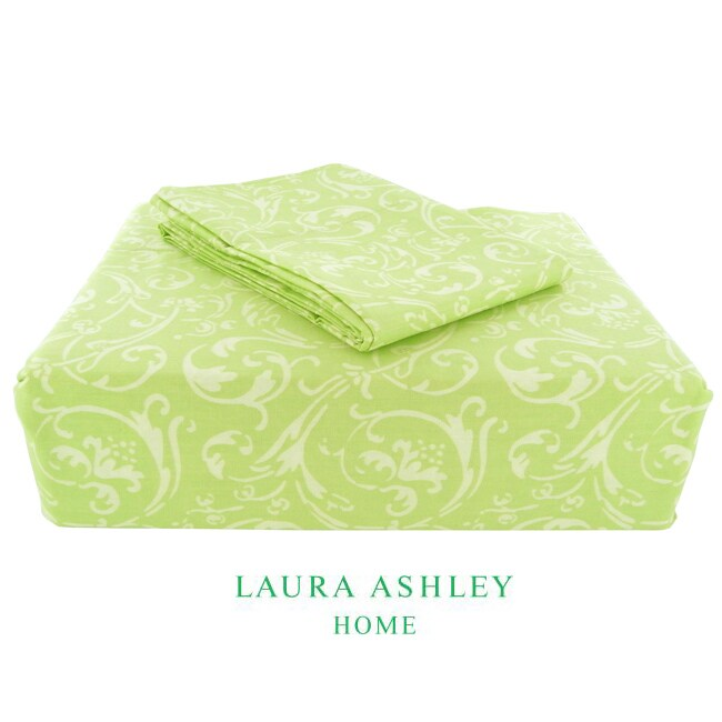 Laura Ashley Ashby 200 Thread Count Sage King-size Sheet Set