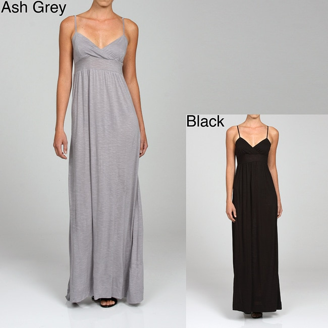 d8cfd77189e Shop Esley Women s V-neck Empire Waist Maxi Dress - Free Shipping On Orders  Over  45 - Overstock - 5135234