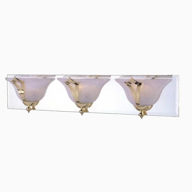 Medallion 3-light Brass Bath Wall Sconce