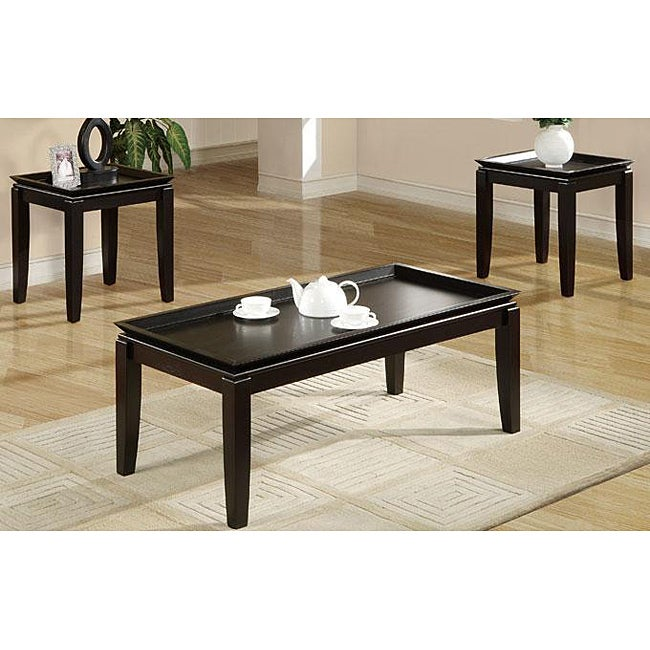 Oak Black Espresso Table Set