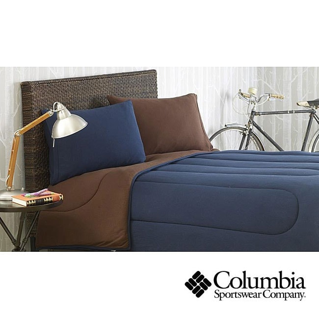 Columbia Jersey Knit Navy Twin-size Comforter Set