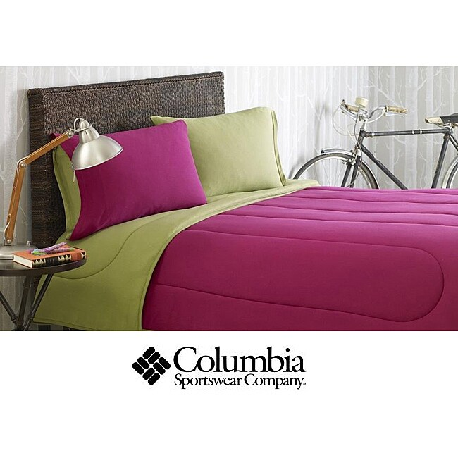 Columbia Jersey Knit Hollyberry Twin-size 2-piece Comforter Set