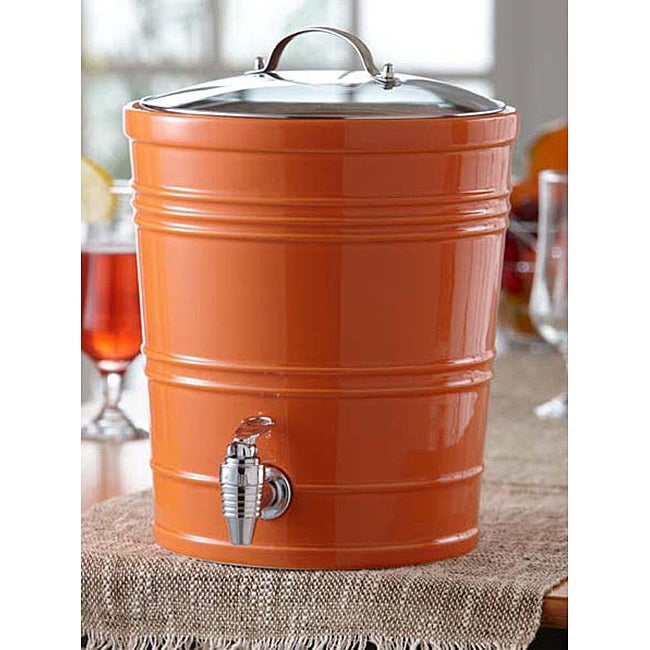 American Atelier Orange 340-ounce Beverage Dispenser