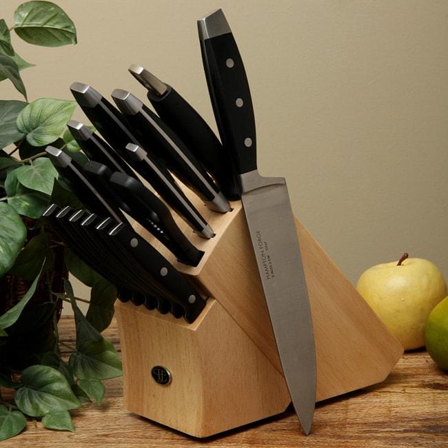 Hampton Forge Continental 15 Piece Knife Block Set Free