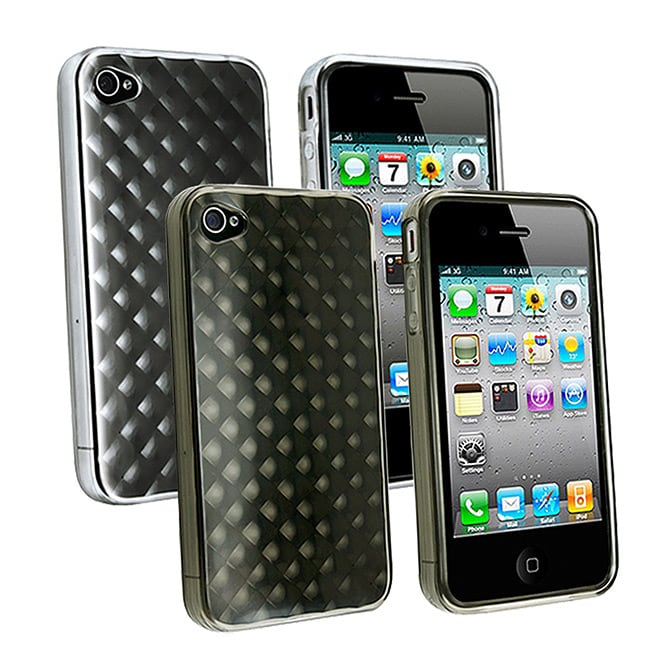 TPU Rubber Skin Case for Apple iPhone 4 - Thumbnail 0