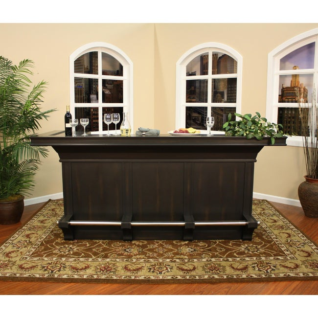 Alturas Distressed Black Home Bar
