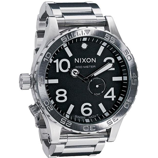 Nixon 51-30 Men's Black Dial Stainless Steel Watch