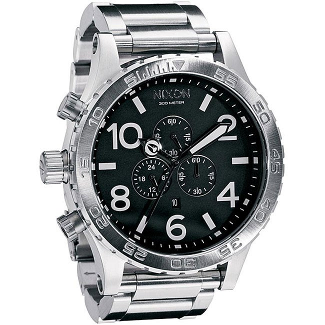 Nixon Men's 51-30 Chrono A083000 Silver Stainless-Steel Analog Quartz Watch with Silver Dial