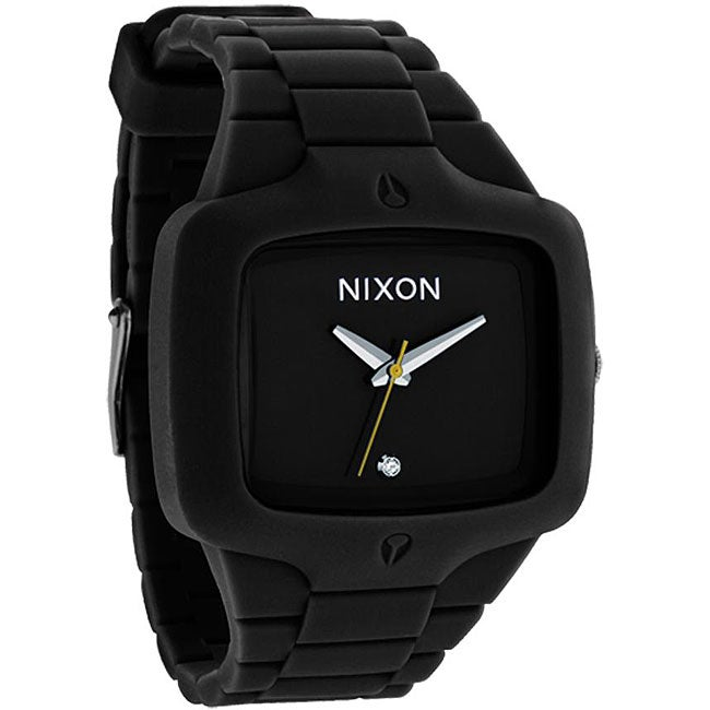 Nixon Rubber Player Black Molded Silicone Watch