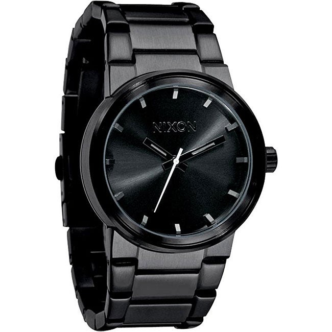 all black men watches best watchess 2017 nixon men s a160 001 cannon all black stainless steel watch