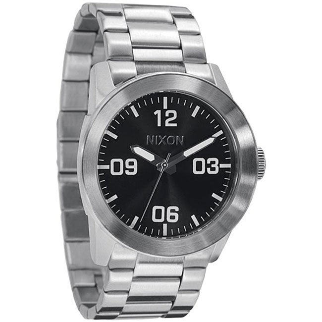 Nixon Private Men's Black Stainless Steel Watch - Thumbnail 0