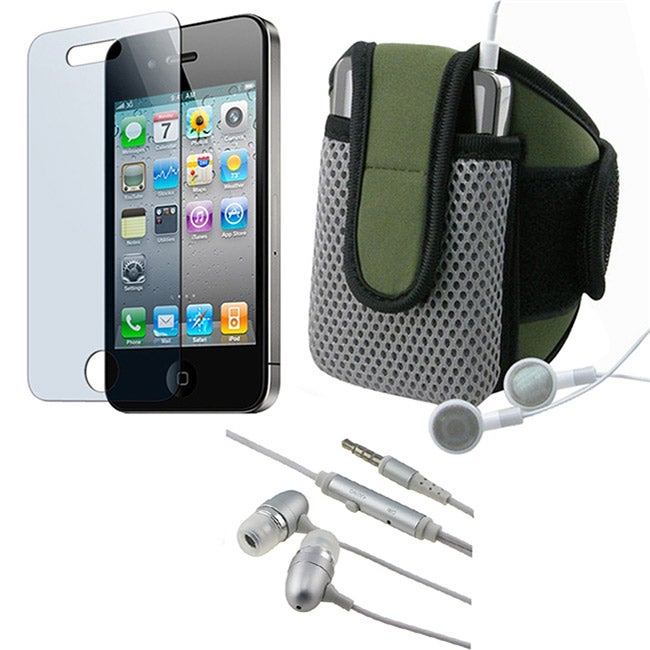 3-piece Armband and Headset for Apple iPhone 4