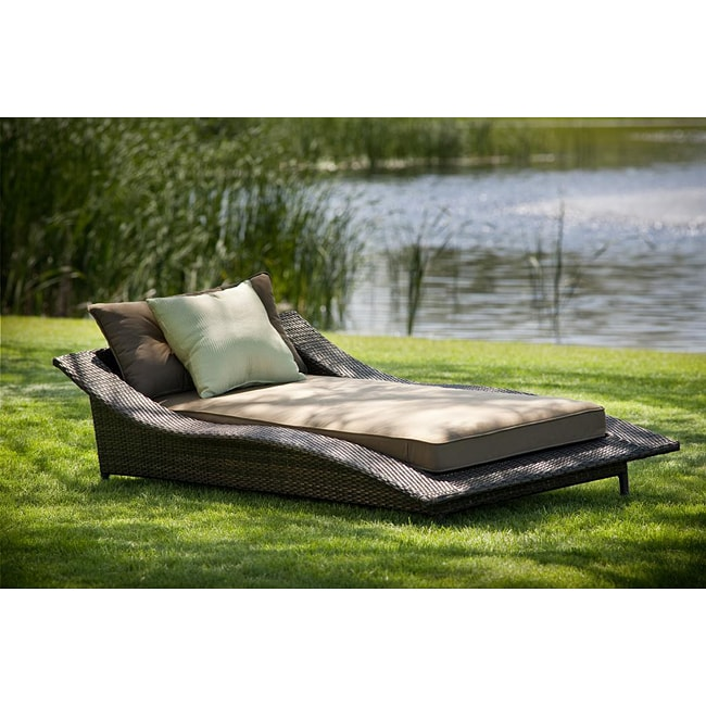 Calle all weather wicker espresso chaise lounge free for All weather chaise lounge