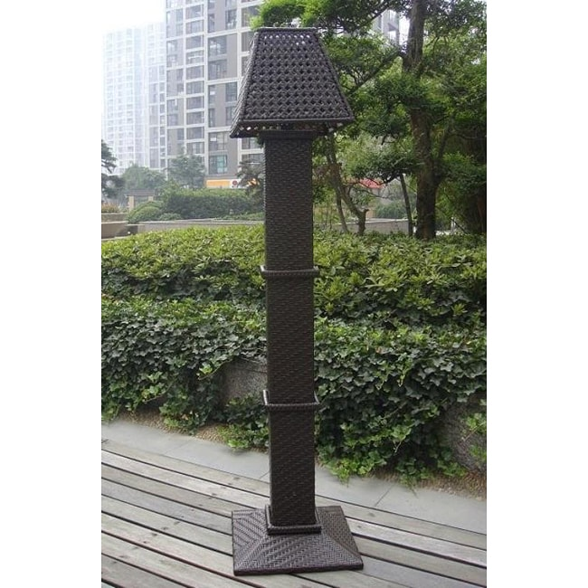 all weather wicker outdoor solar floor lamp free shipping today. Black Bedroom Furniture Sets. Home Design Ideas