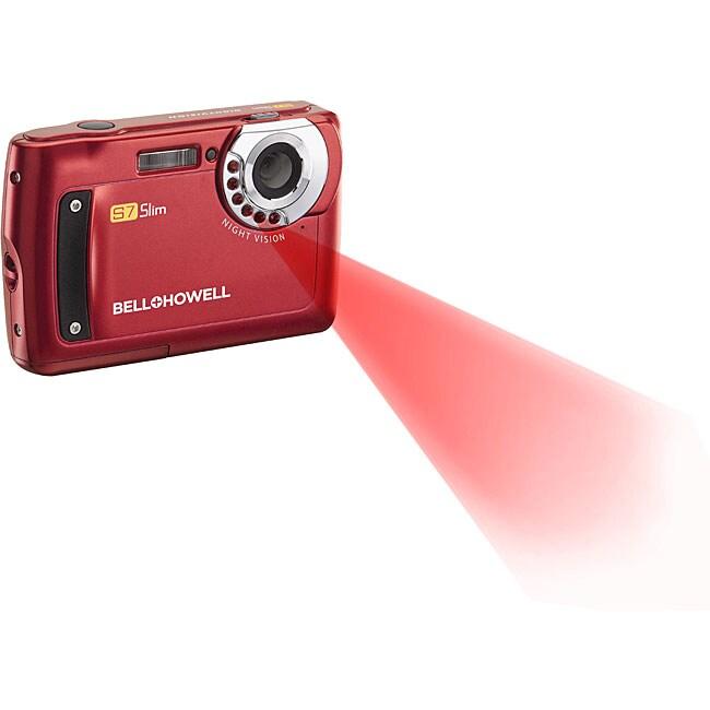 Bell & Howell Red S7 Night Vision Slim 12MP Digital Camera