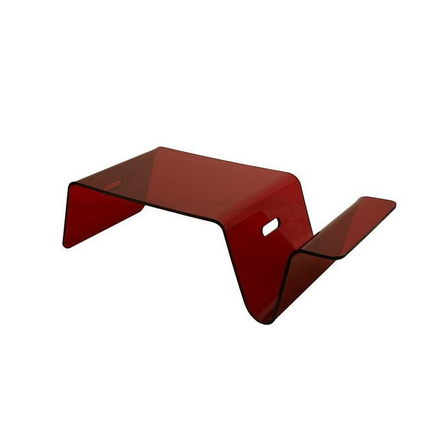 senza transparent red acrylic bed tray/ coffee table with magazine