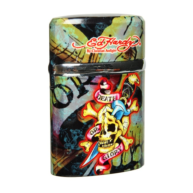 Amazing Ed Hardy Xxl Glory Skull Twin Torch Tabletop Lighter Download Free Architecture Designs Embacsunscenecom