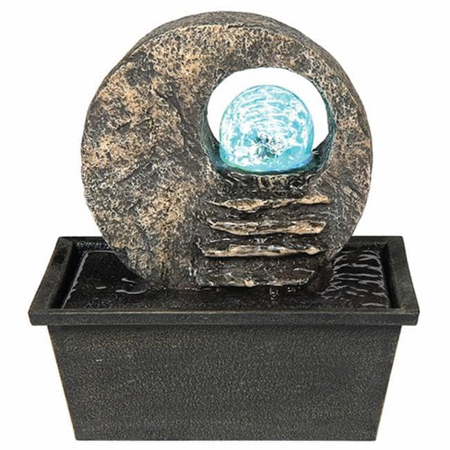 Ore International Textured Indoor Table Fountain