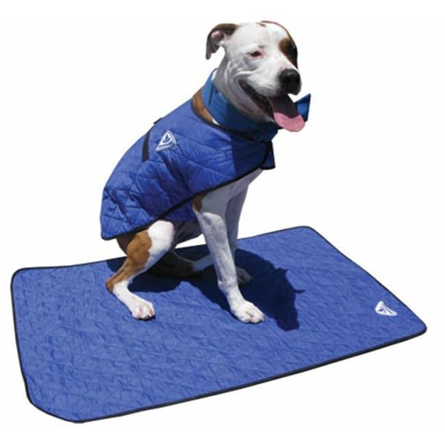 hyperkewl evaporative dog cooling large blue mat free. Black Bedroom Furniture Sets. Home Design Ideas