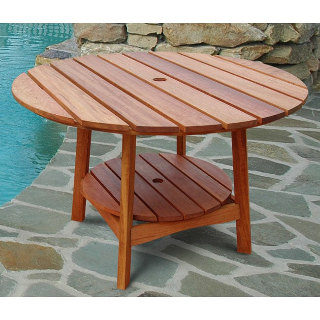 Marvelous Outdoor Eucalyptus Wood Round Dining Table