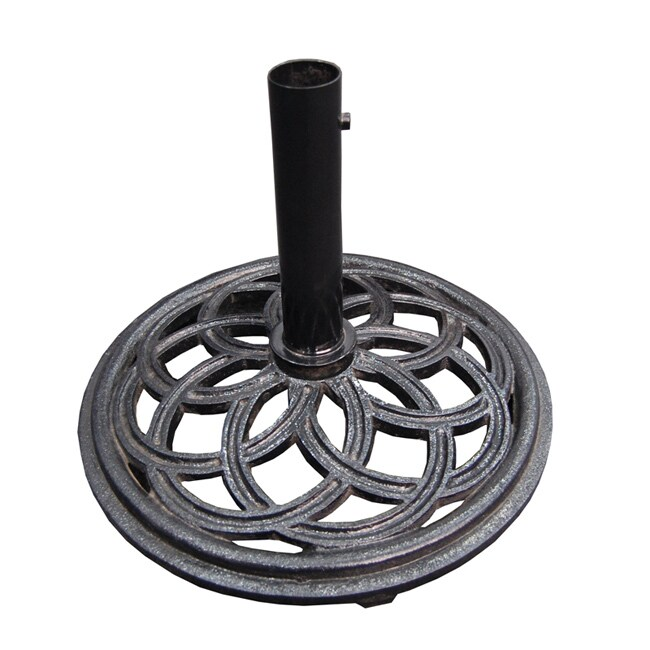 Cast Iron Black Umbrella Base