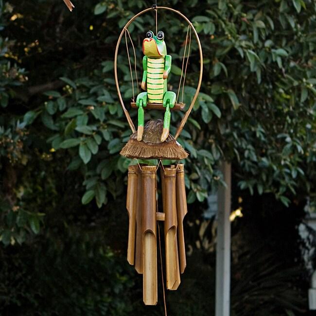 Bamboo 'Croco Jambo' Wind Chime (Indonesia)