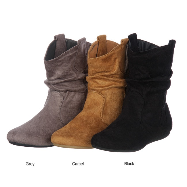 Groove Women's 'Hoops' Short Western Slouch Boots