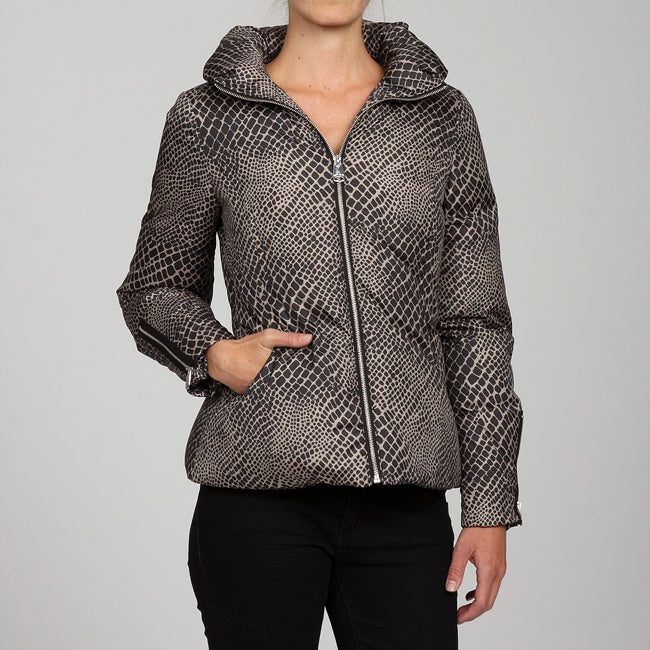 Via Spiga Women's Animal Print Down Jacket