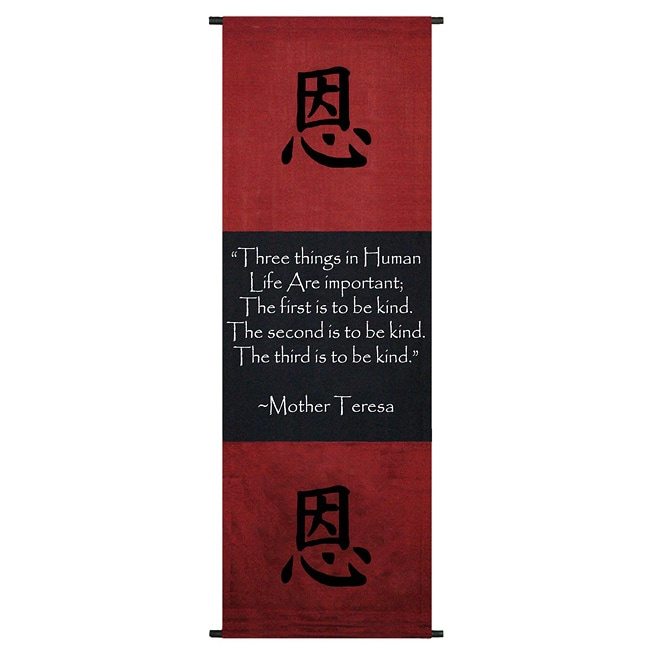 Shop Cotton Kindness Symbol And Mother Teresa Quote Scroll
