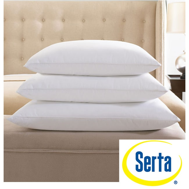 Serta 300 Thread Count Queen Size White Down Pillow Free
