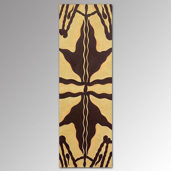 Canvas Arborigin Brown Tiger Painting (Indonesia)
