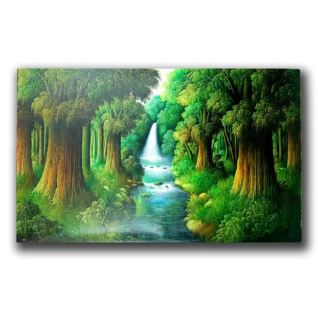 Canvas 'Creek of Paradise' Painting (Indonesia)