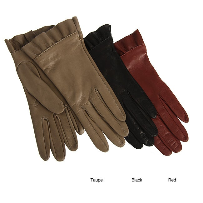 9002540fa Shop Labonia Italian Leather Silk-lined Gloves - Free Shipping Today -  Overstock - 5160442