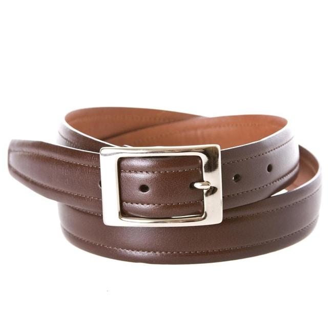 Cole Haan Men's Dorian Dark Brown Dress Belt