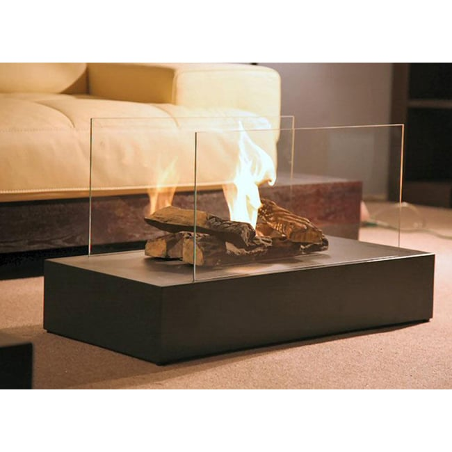 Space Steel Free-standing Indoor Fireplace