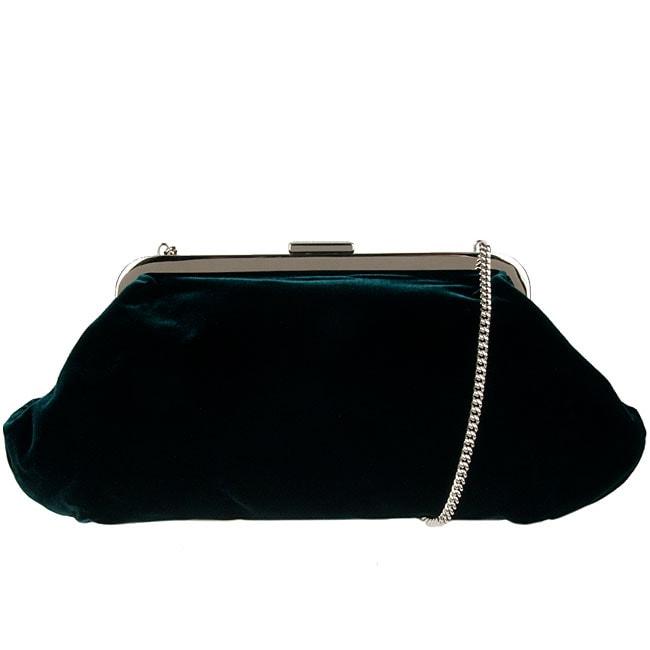 Dolce & Gabbana Emerald Green Velvet Clutch
