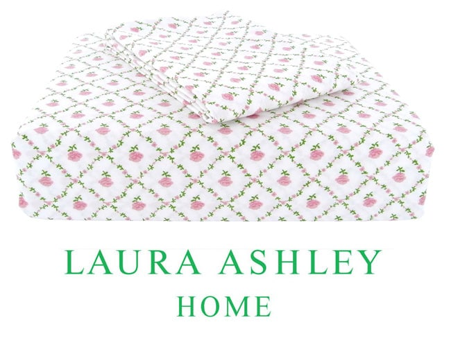Laura Ashley Kate 200 Thread Count Twin-size Sheet Set