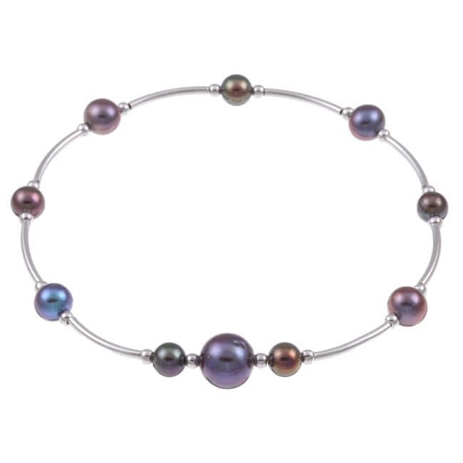 Kabella Sterling Silver Freshwater Pearl Bracelet (9 mm)