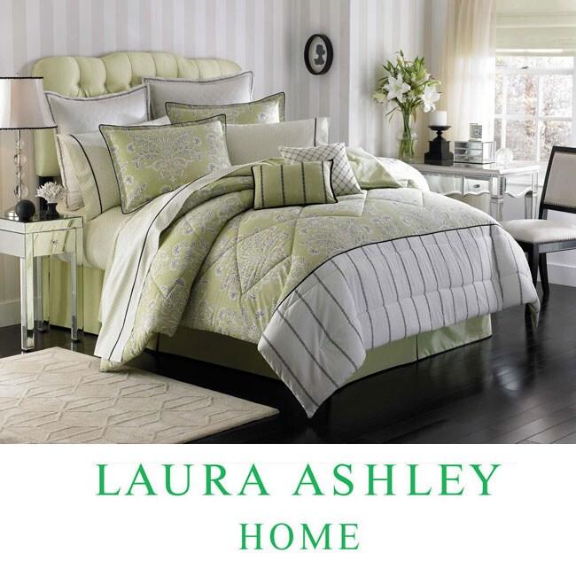 Laura Ashley Holbeck King-size 4-piece Comforter Set