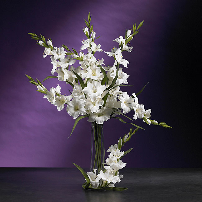 Shop Artificial Gladiola Stems Set Of 12 Free Shipping