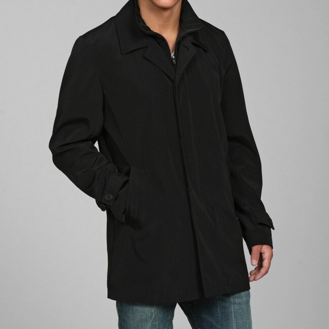 Larry Levine Men's Classic Mackintosh Water-repellent Raincoat
