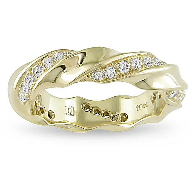 18k Yellow Gold 2/5ct TDW Diamond Fashion Ring (G-H, VS1-VS2)