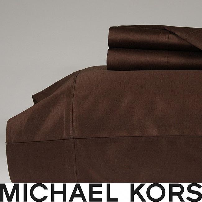 Michael Kors Nutmeg 300 Thread Count Queen-size Sheet Set
